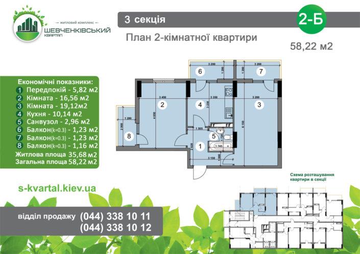 Двухкомнатная квартира 2Б
